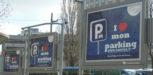 les panneaux d'affichage de saemes s'ecrit: j'adore mon parking