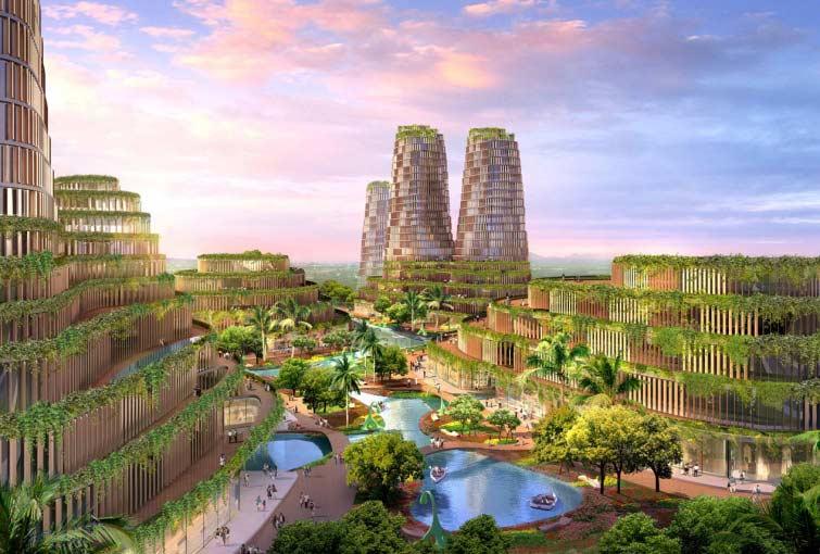 Jungle urbaine un projet fou en provenance de chine for Les espaces verts urbains