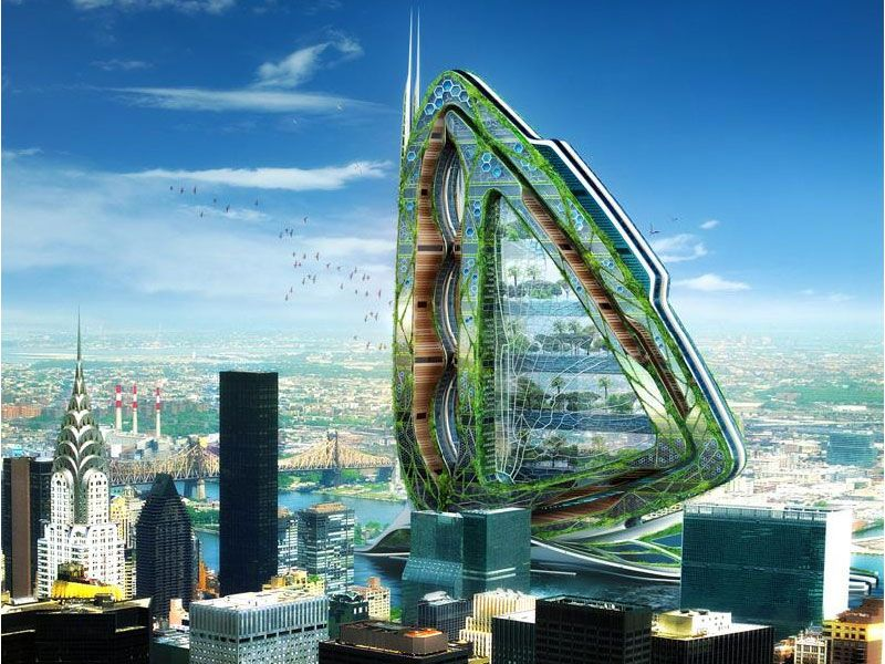Dragonfly, prototype de ferme bionique à New York - Vincent callebaut architecture ©