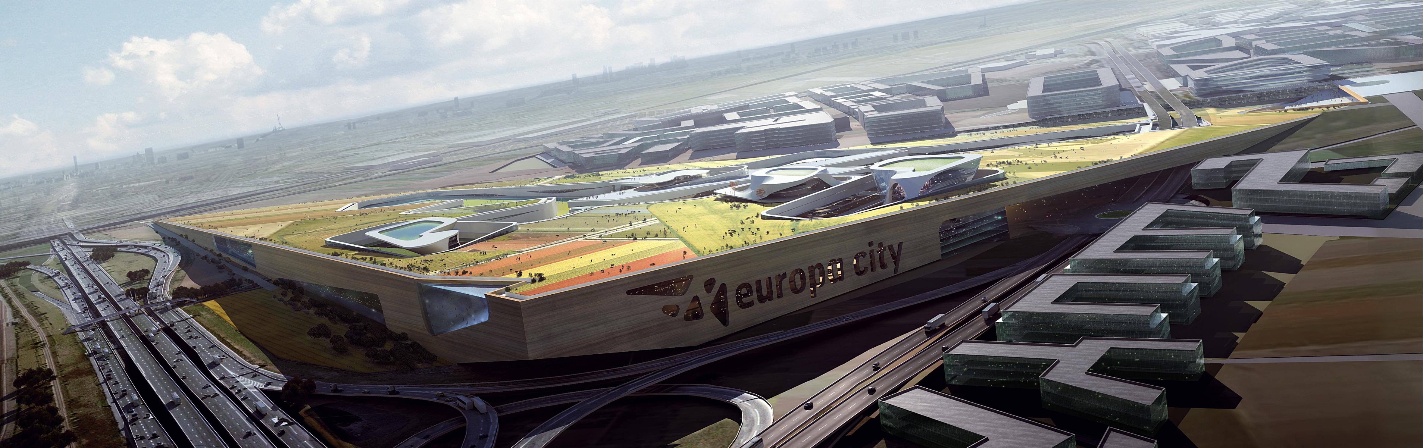Le projet de l'équipe Snohetta/Gehry Technologies/RWDI pour Europa City : monumentali