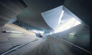 Yokohama International Port Terminal in Japan, designed by Farshid Moussavi and Alejandro Zaera-Polo