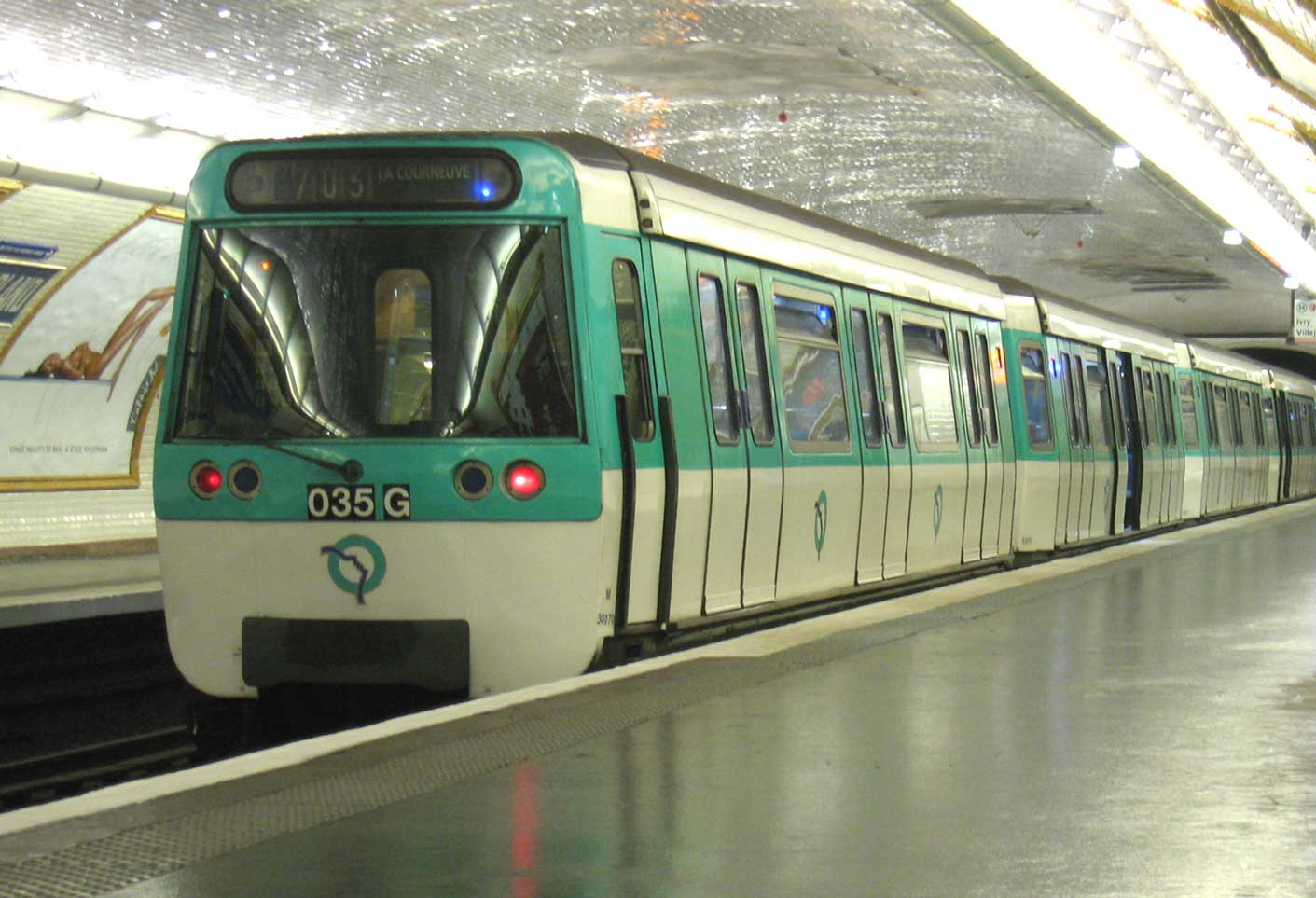 Metro Paris Rame MF77 Ligne