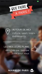 APPLI QUE FAIRE A PARIS-geolocalisation