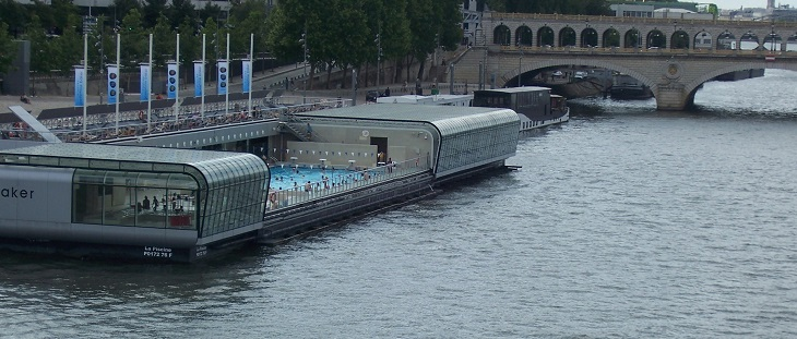 Nager à Paris