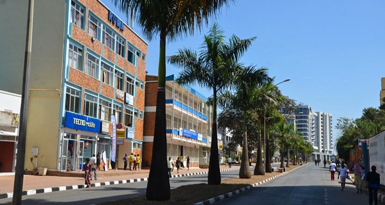 kigali zone piéton ville