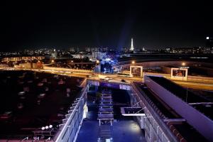 paris convention centre at night