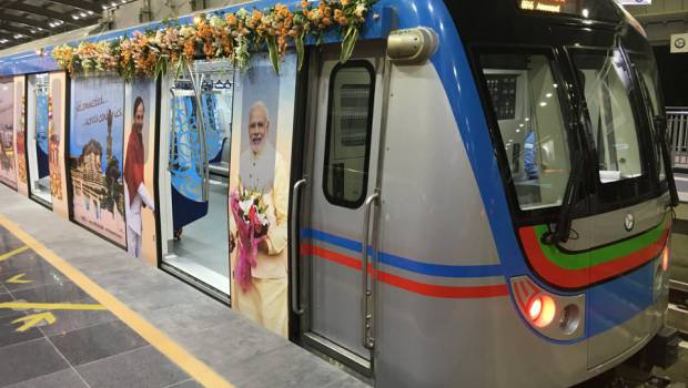 Photo du métro automatique d'Hyderabad